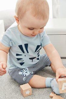 Next Tiger T-Shirt And Shorts Set (0mths-2yrs)