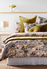 Cornflower Printed Velvet Cushion