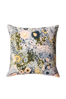 Cornflower Printed Velvet Cushion