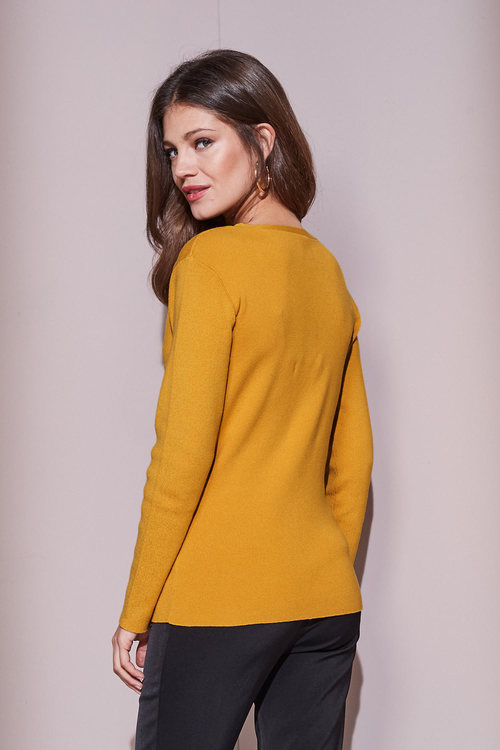 European Collection Button Detail Sweater