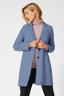 Capture Boiled Wool Blend Coat - 240583