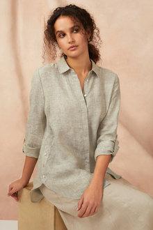 Capture Linen Longline Shirt - 240584