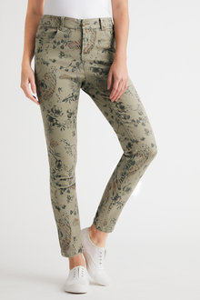 Capture Printed Jeans - 240585
