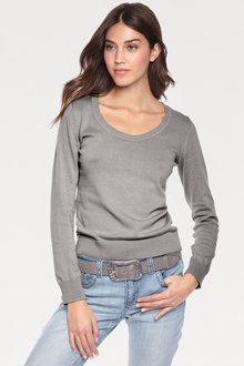 Capture Scoop Neck Sweater - 240604