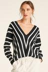 Capture Stripe Drop Shoulder Sweater
