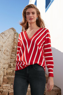 Capture Stripe Drop Shoulder Sweater
