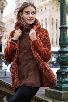 Capture Hooded Fleece Zip Up Jacket - 240607