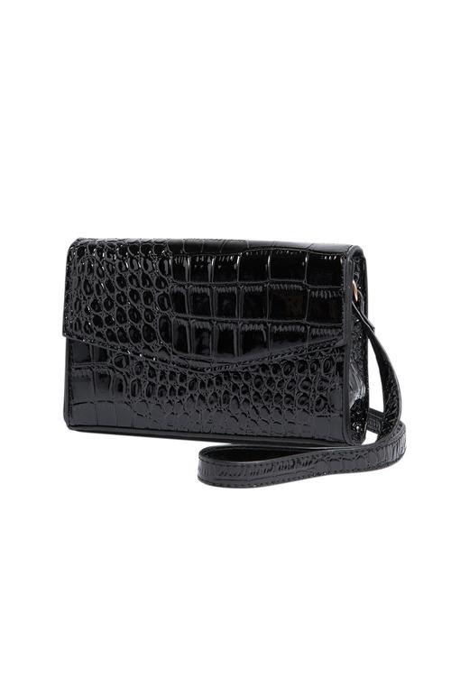 Coco Croc Embossed Crossbody Bag