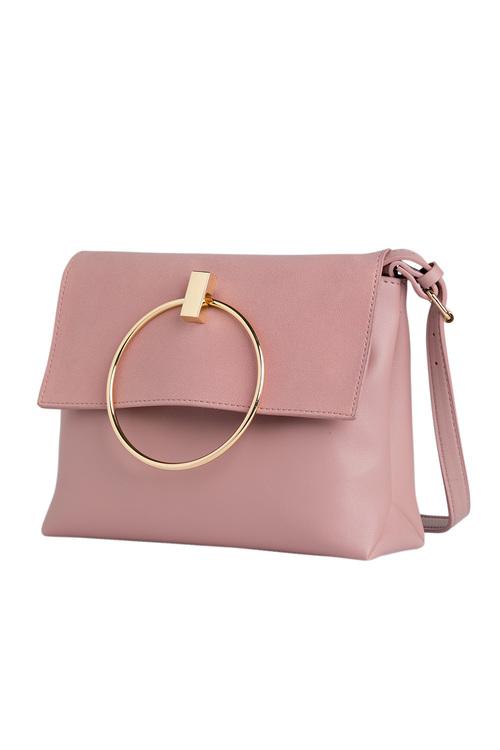 Clara Ring Detail Shoulder Bag