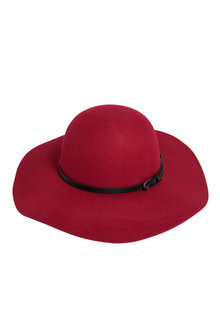 Wide Brim Felt Hat - 240683