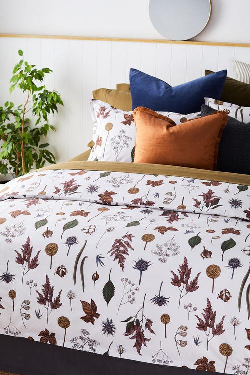 Autumn Flowers Duvet Cover Set