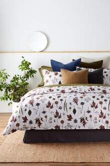 Autumn Flowers Duvet Cover Set - 240702