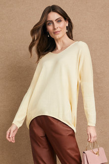 Grace Hill Cashmere Blend Drop Shoulder Sweater - 240716