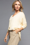 Grace Hill Cashmere Blend Drop Shoulder Sweater