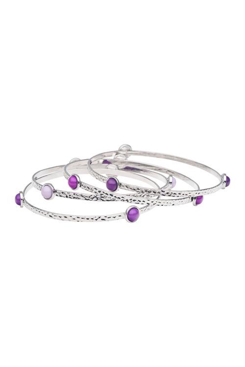 Amber Rose Amethyst Vessel Bracelet