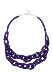 Amber Rose Amethyst Necklace