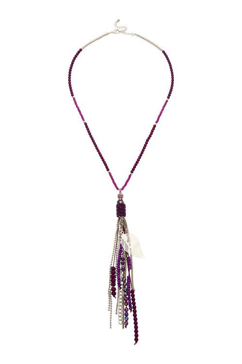 Amber Rose Leaf Necklace