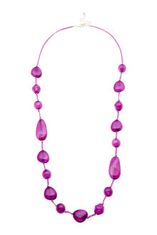 Amber Rose Resin Necklace - 240729