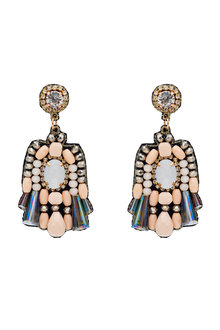 Amber Rose Handcrafted Beaded Statement Earrings