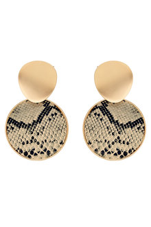 Amber Rose Snake Earrings