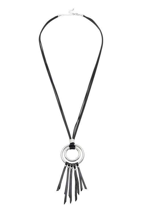 Amber Rose Loop Rope Necklace