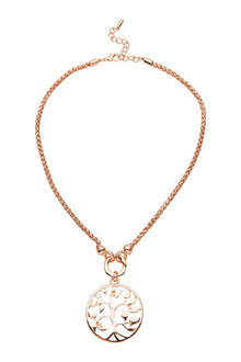 Amber Rose Tree Necklace