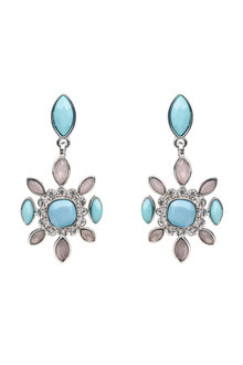 Amber Rose Stoneset Earrings