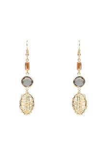 Amber Rose Basketweave Drop Earrings