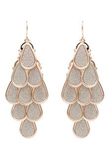 Amber Rose Fish Earrings