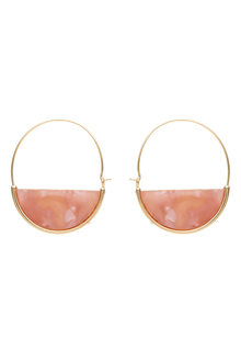 Amber Rose Resin Half Moon Earrings - 240792