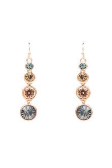 Amber Rose Cascade Earrings