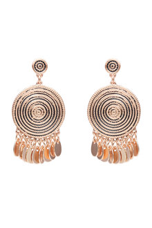 Amber Rose Scroll Earrings