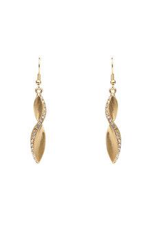 Amber Rose Swirl Earrings