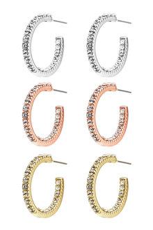 Amber Rose Hoop Earring Set
