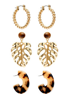 Amber Rose Tort Earrings - 240808