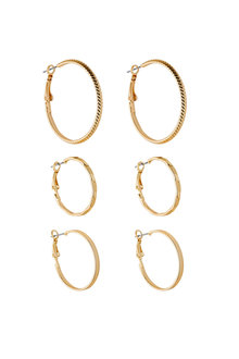 Amber Rose Hoop Trio Set - 240810