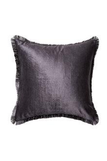 Berkeley Fringe Velvet Cushion