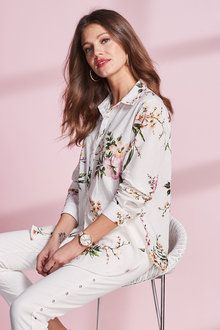 European Collection Floral Print Shirt - 240830
