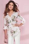 European Collection Floral Print Shirt
