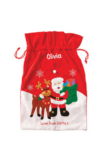 Personalised Felt Santa Sack