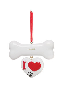 Personalised Dog Bone Ornament