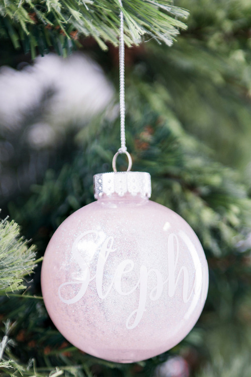 Personalised Glitter Bauble