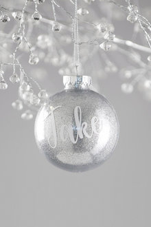 Personalised Glitter Bauble - 240843