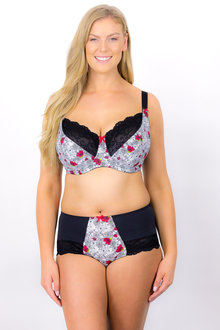 Plus Size - Rose & Thorne En Forme Poppy Fields Brief