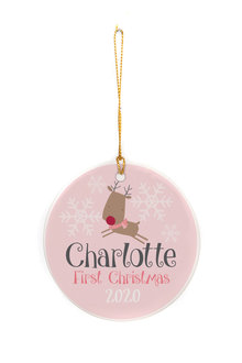 Personalised First Christmas Ornament