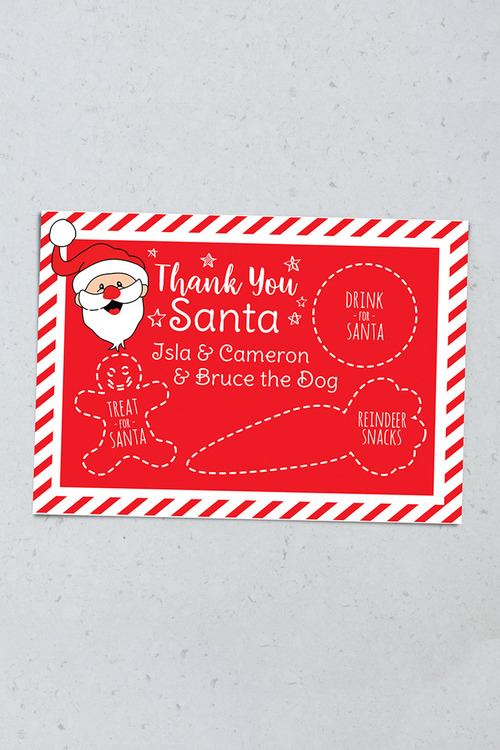 Personalised Night Before Christmas Placemat