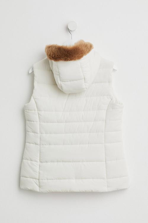 Capture Fur Hood Puffer Vest