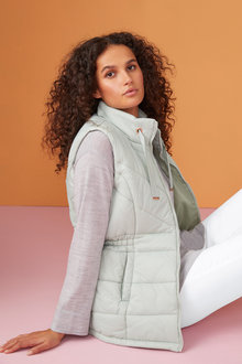 Capture Waist Detail Puffer Vest