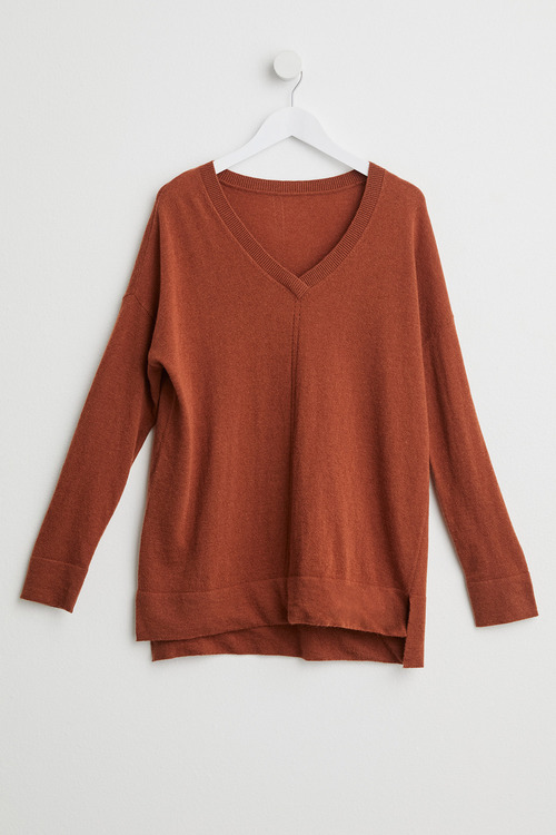 Capture Lambswool Pointelle V Sweater