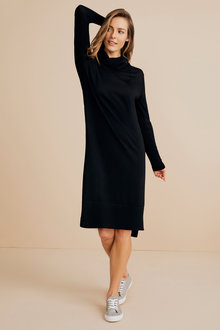 Capture Merino Cowl Neck Midi Dress - 240899